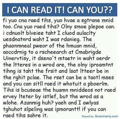 I can read it, can you?